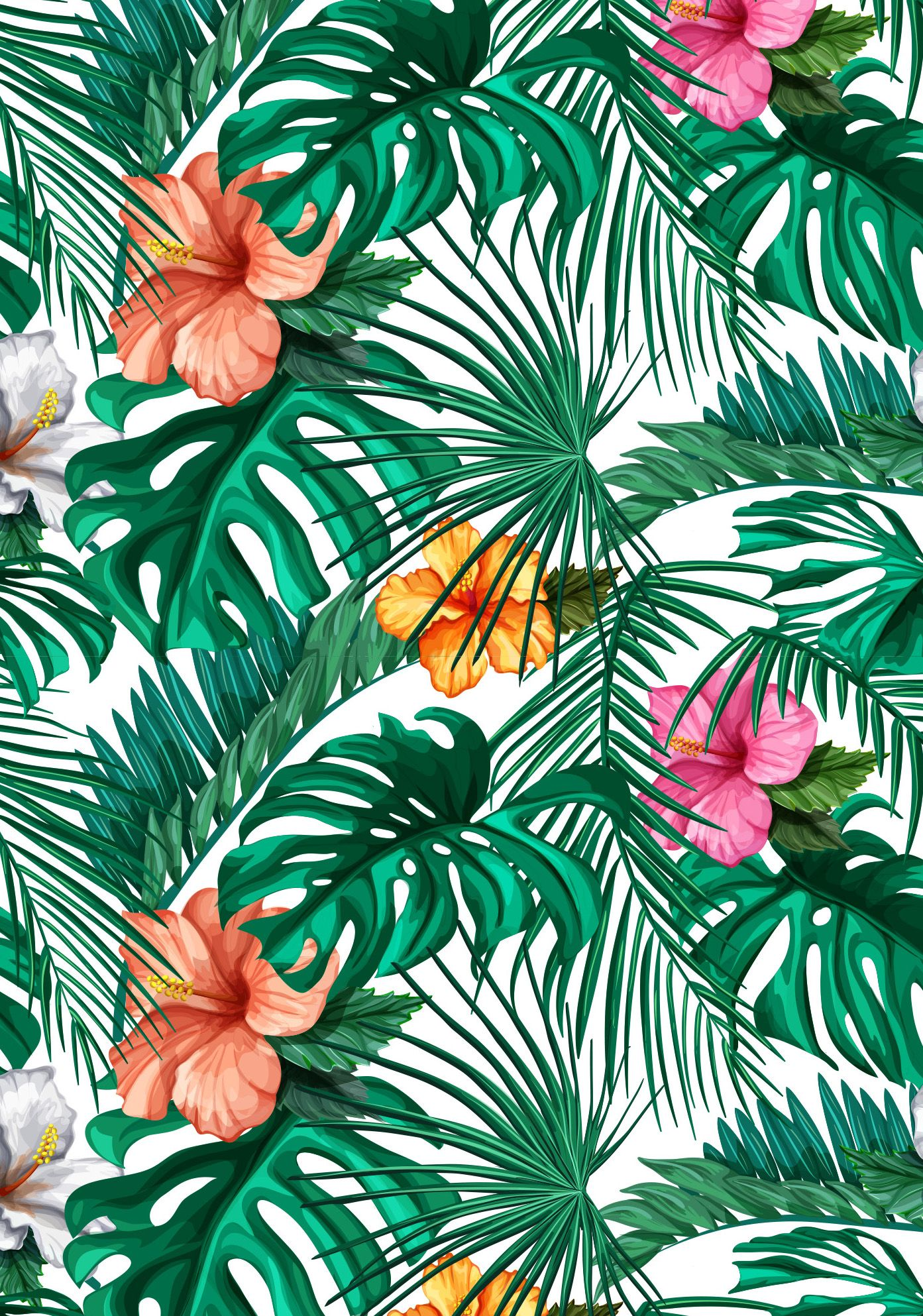 Tropical Flower Wallpaper Mural Be Bold Be Brave And Make Your