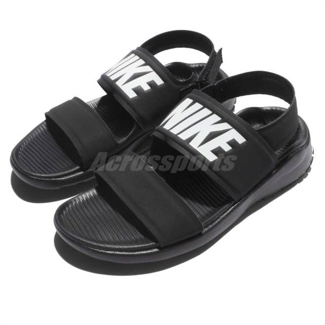 d6d99cdfdc435 Wmns Nike Tanjun Sandal Black White Womens Fashion Sandals Slide 882694-001