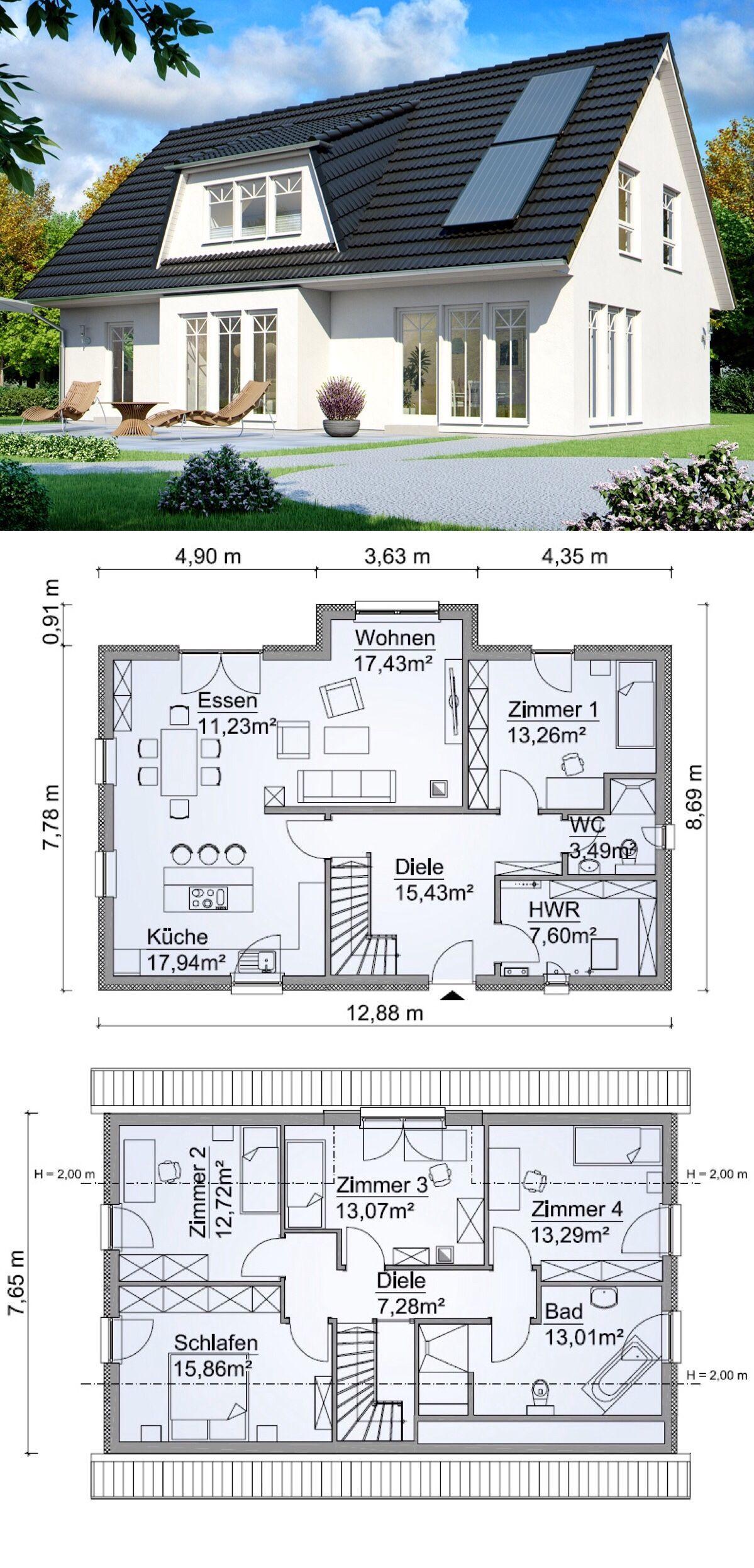 Einfamilienhaus SH 160 VARIANTE A im Landhausstil ScanHaus Marlow