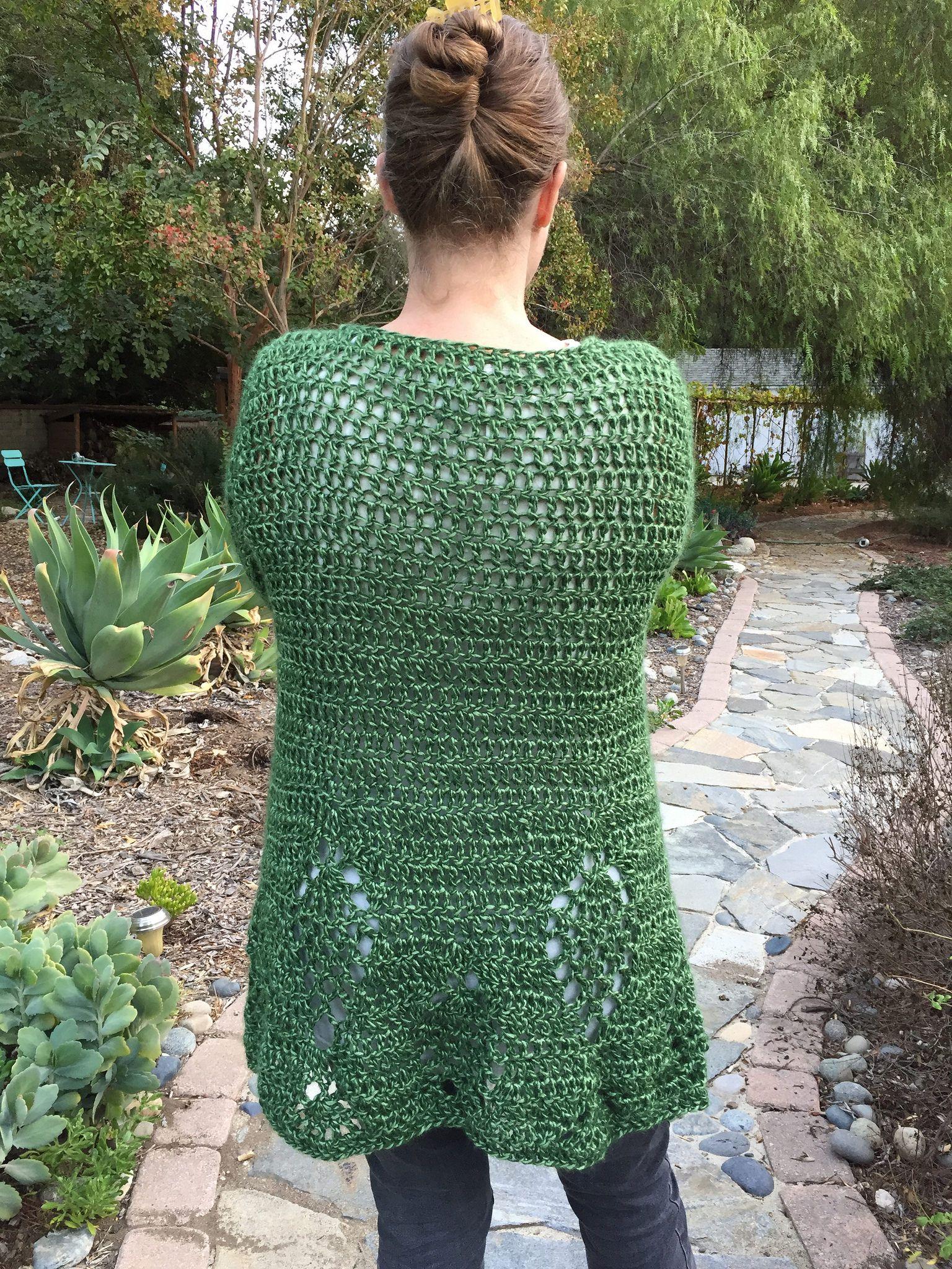 Suvis Crochet Falling Leaves Cardigan Free Crochet Sweater