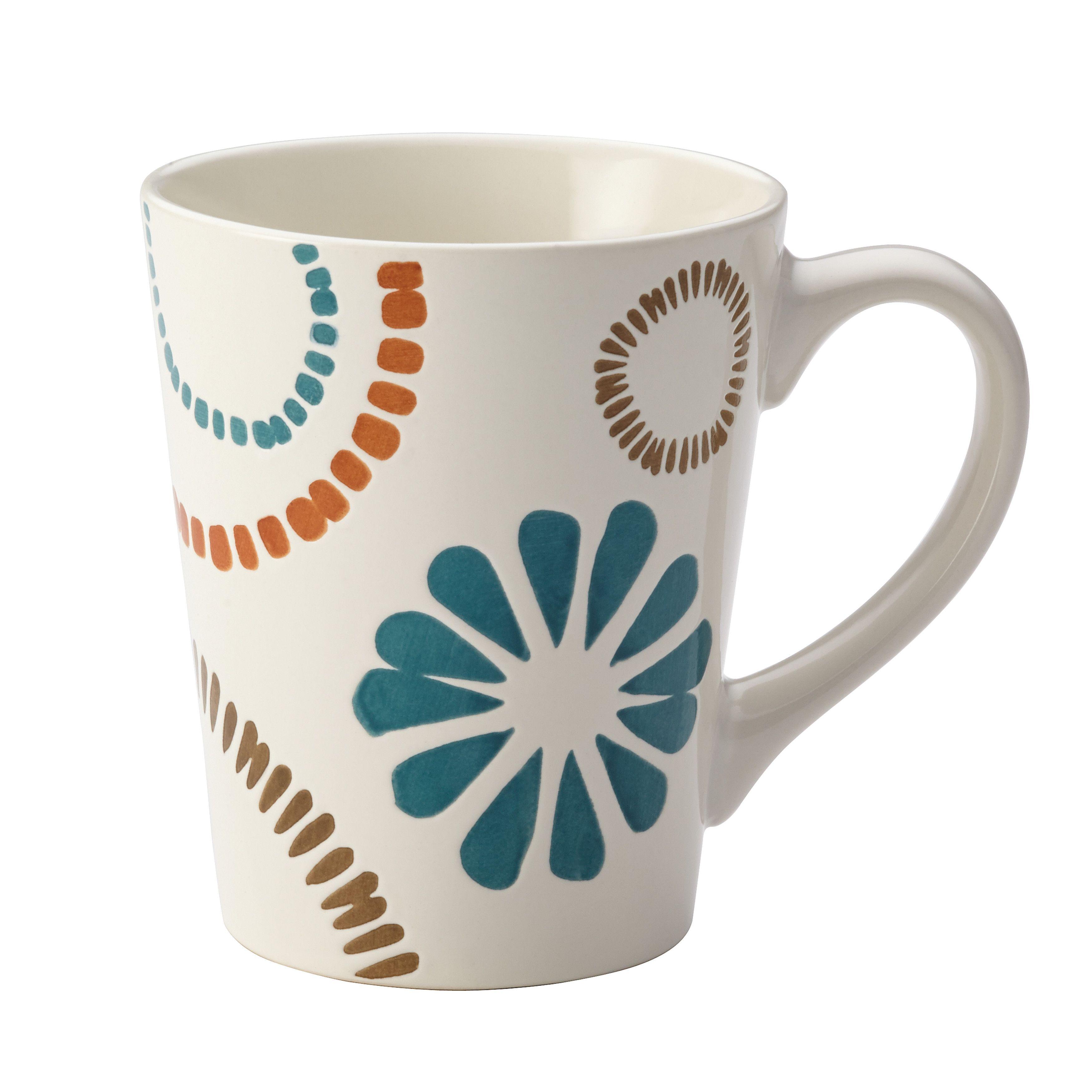 Rachael Ray Cucina Sun Daisy Dinnerware 12-Ounce Stoneware Mug ...