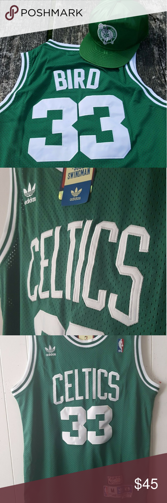 quality design 58279 41575 Boston Celtics Larry Bird adidas Jersey New with tags ...