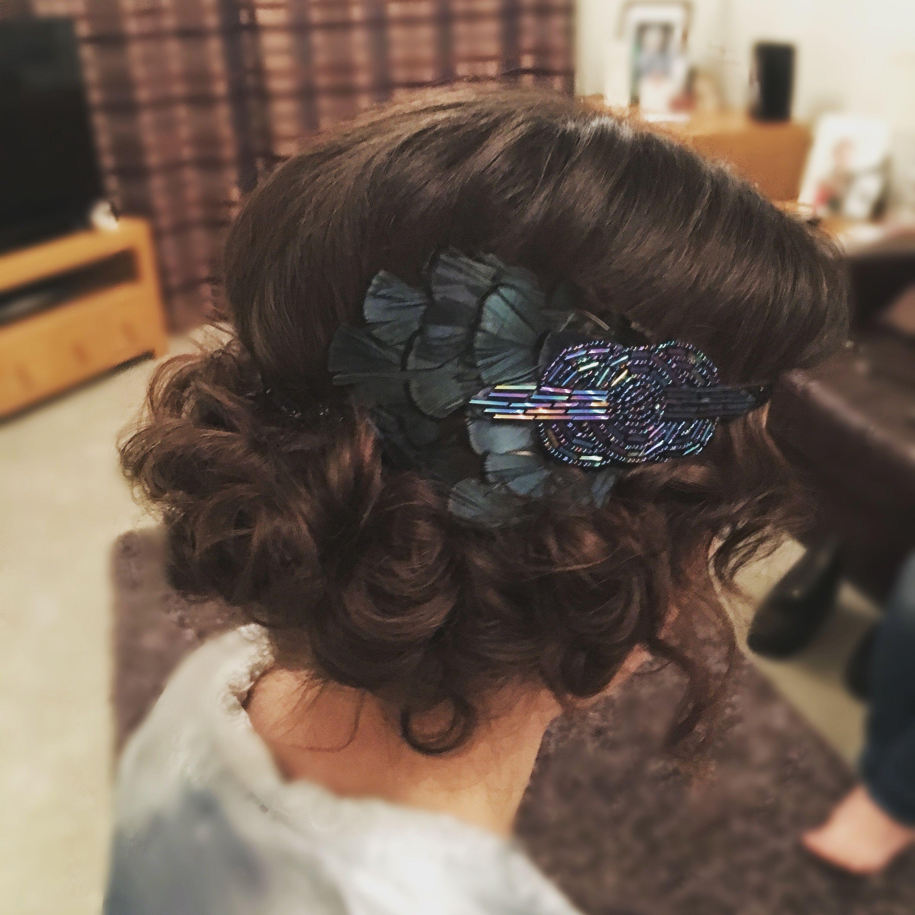1920s inspired updo | Hair styles, Headbands, Updos
