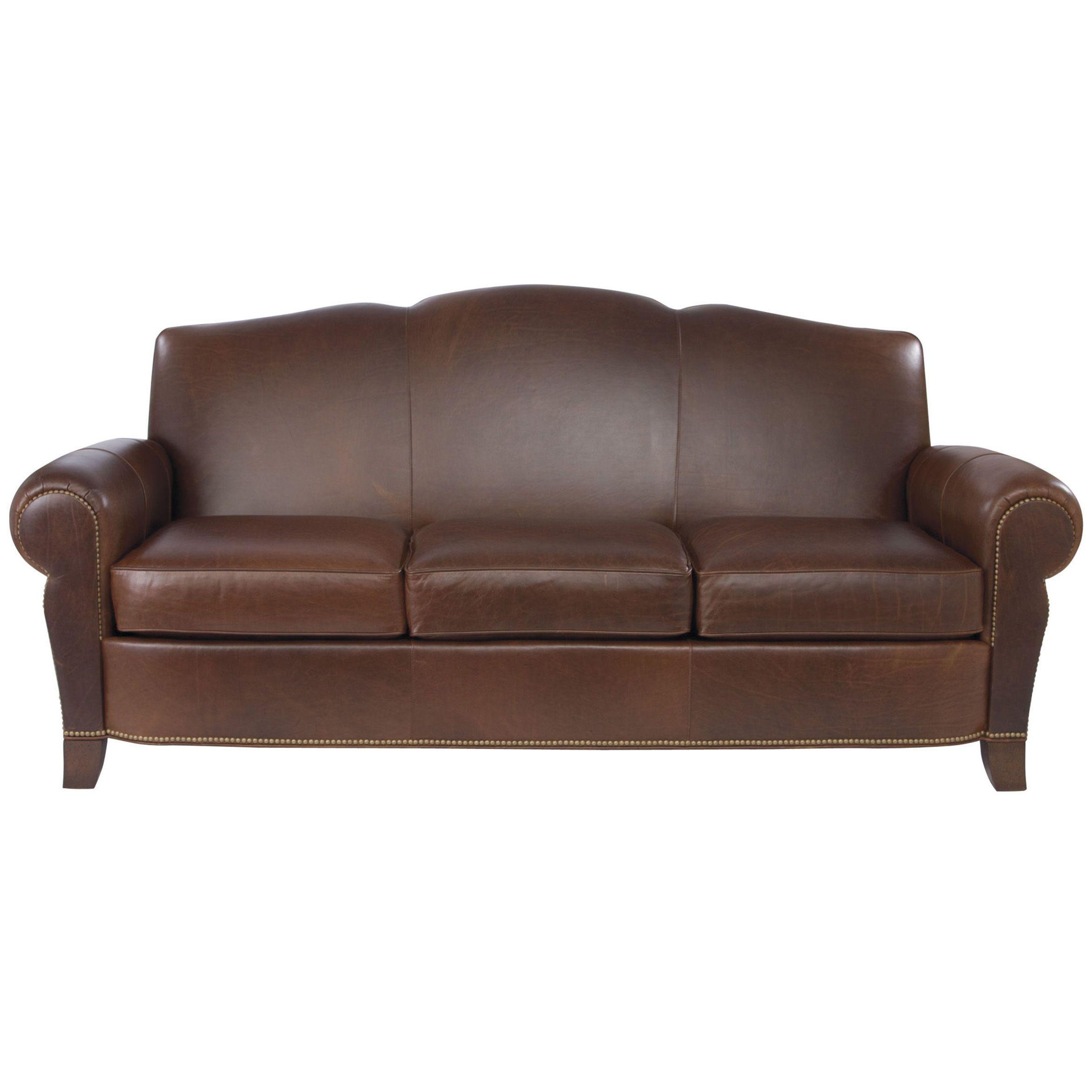 Paloma Three Cushion Leather Sofa Ethan Allen Us Leather Sofa