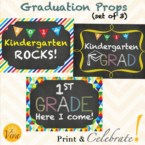 Kindergarten Graduation Printable Photo Prop by VivaPrintCelebrate