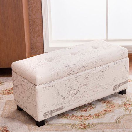 Phenomenal Addison Off White Beige 37 Inch Sign Pattern Ottoman Bench Evergreenethics Interior Chair Design Evergreenethicsorg