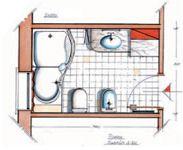 Progetto bagno piccolo con lavatrice cerca con google casa - Progetto bagno piccolo idee ...