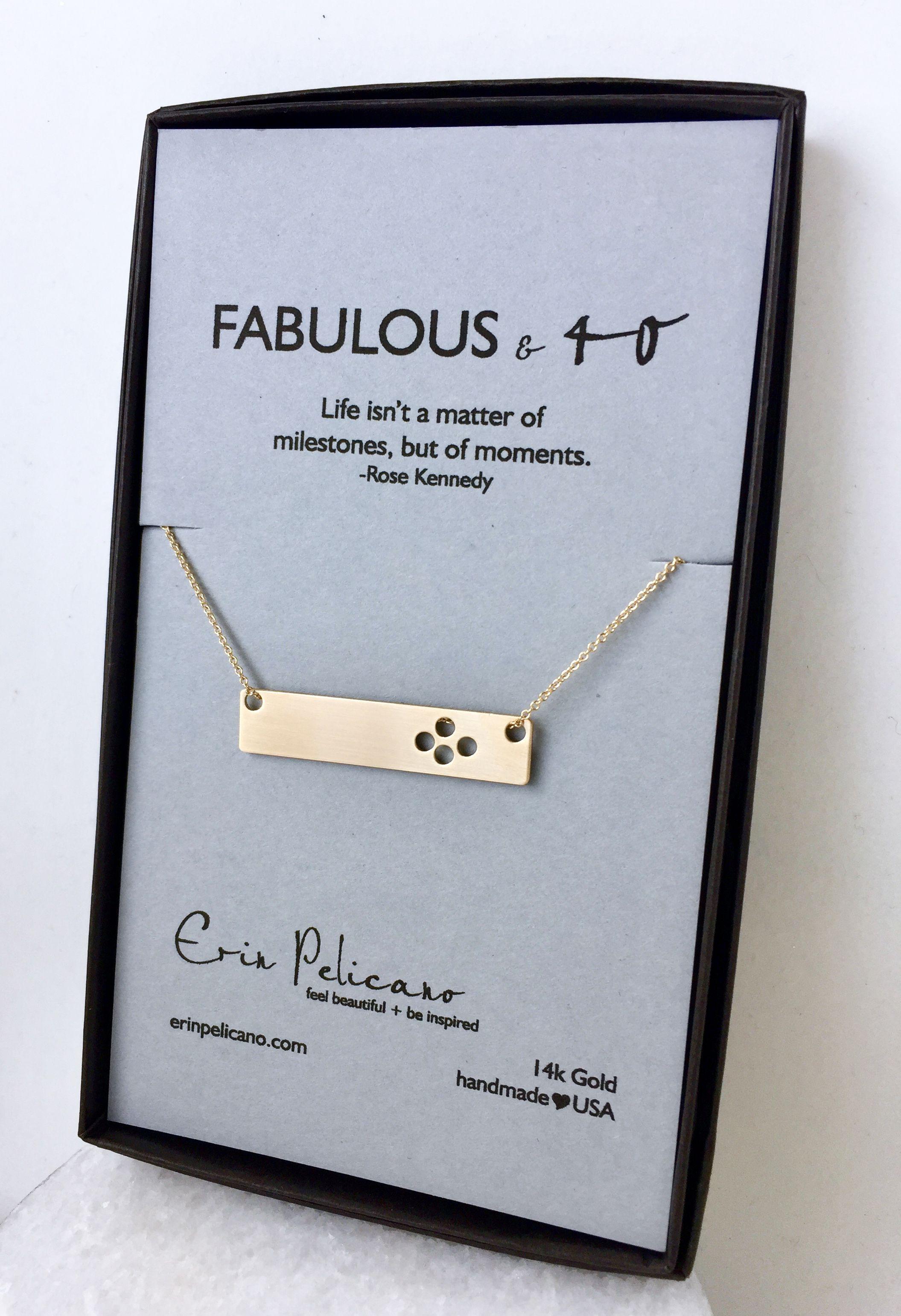 40th Birthday Bar Necklace