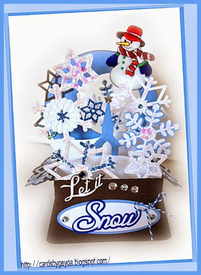 Check out this mystical Snow Globe card from CHRISTMAS BOX