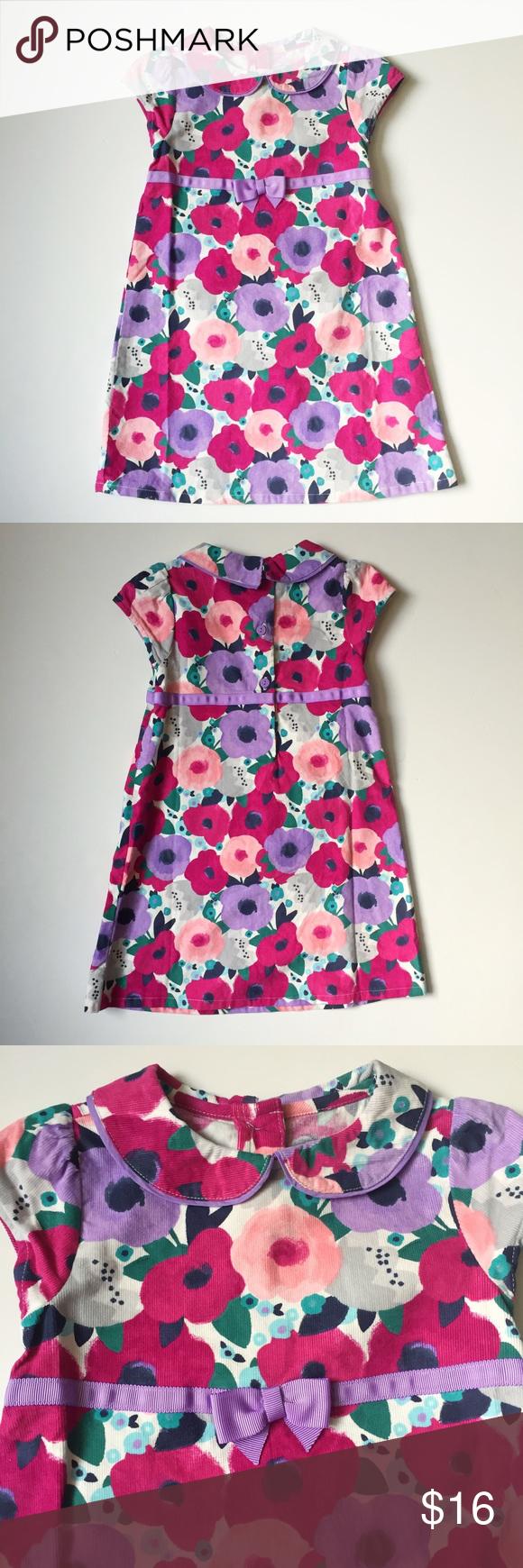 NWT Gymboree Pink & Lavender floral Corduroy Dress 100% cotton.  Includes lavender bloomers Gymboree Dresses