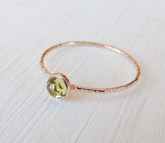 Rose Cut Ring Rose Cut Peridot Ring Peridot Ring Gold by Luxuring