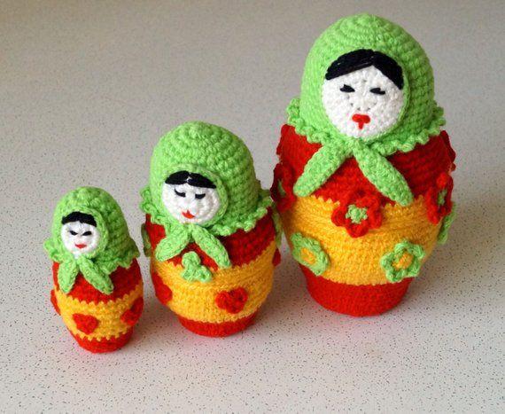 Russian Doll Amigurumi Crochet Pattern PDF, Babushka ...