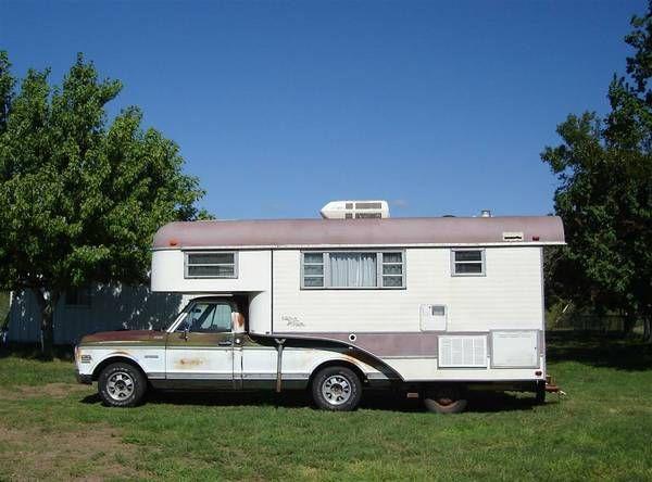 image 1   Truck camper, Vintage camper, Camper trailers