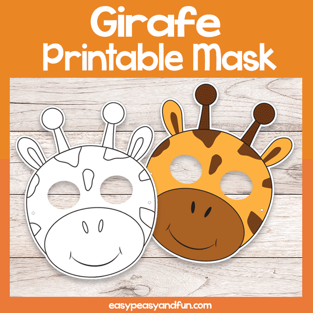 Printable Giraffe Mask Template Mask Template Giraffe Diy Baby Stuff