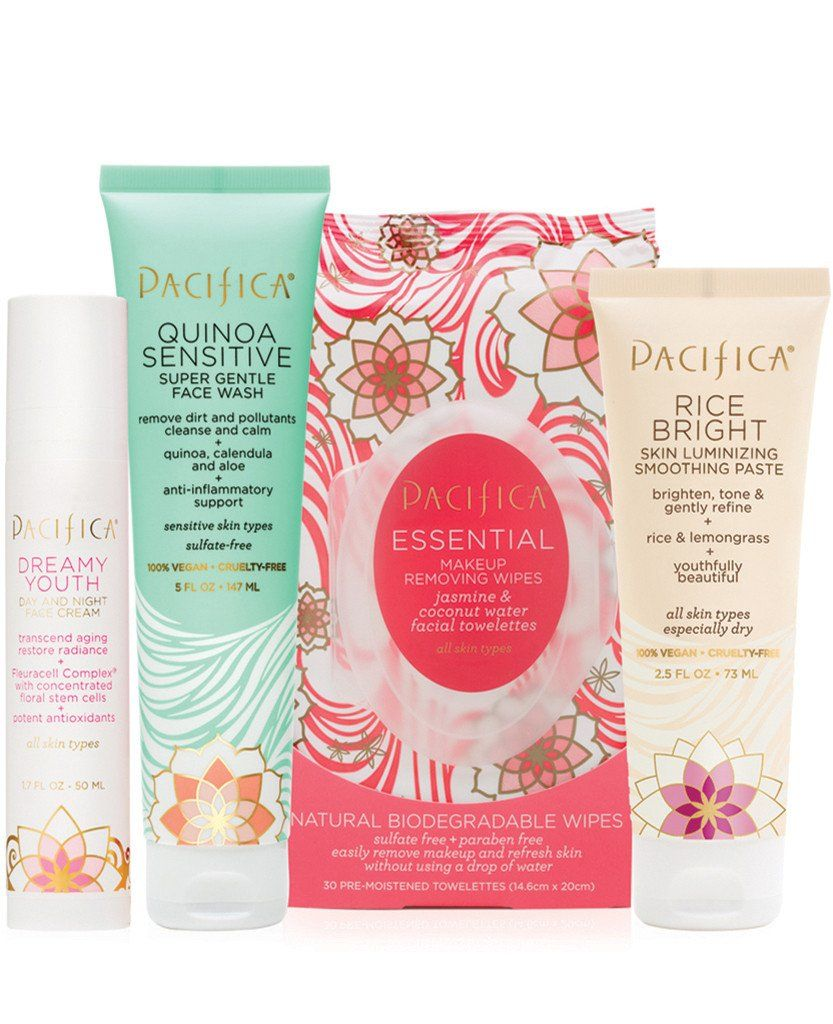 Pacifica Flowers and Grains Skincare Value Set Natural