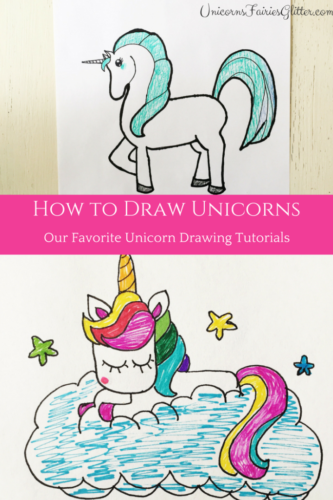 How to Draw a Unicorn - Unicorn Drawing Tutorials for Kids ...