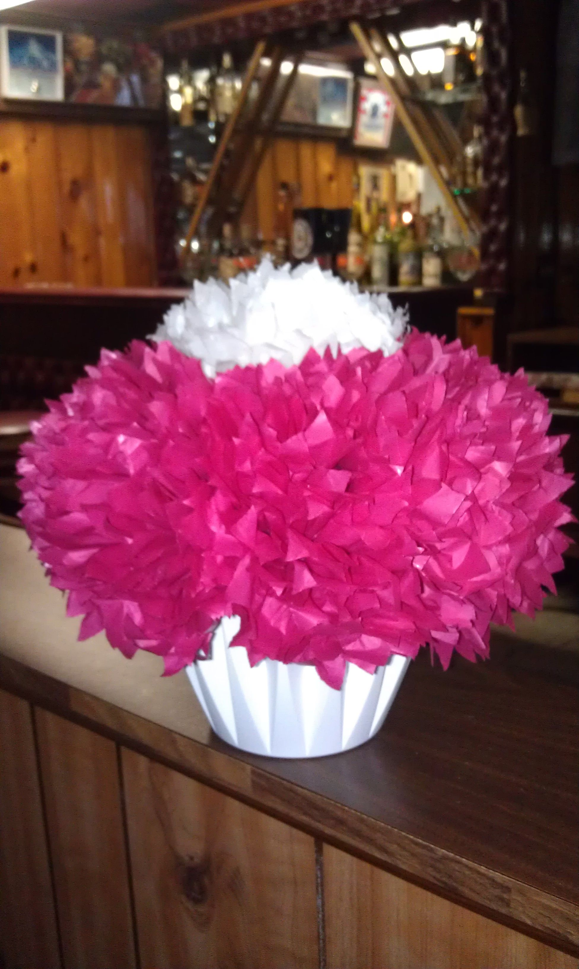 Tissue Paper Flowers As Centerpieces Wedding Bridal Shower
