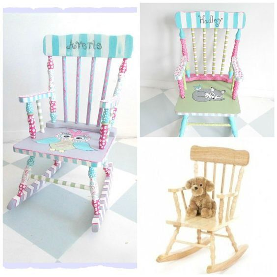 Amazing Whimsyburd Mollies Creations Rocking Chair Painted Machost Co Dining Chair Design Ideas Machostcouk