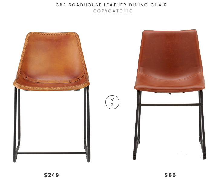 Daily Find Cb2 Roadhouse Leather Dining Chair Copycatchic Leather Dining Chairs Dining Chairs Cheap Dining Room Chairs #small #leather #chairs #for #living #room