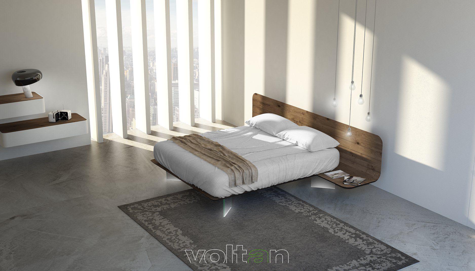 Camere Da Letto Moderne Con Comodini Sospesi.Nuovo Letto No Vo E Como Elite Sospesi Bedsidetable Nightable