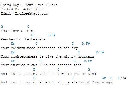 Your Love Oh Lord Guitar Chords Ukulele Tabs Pinterest