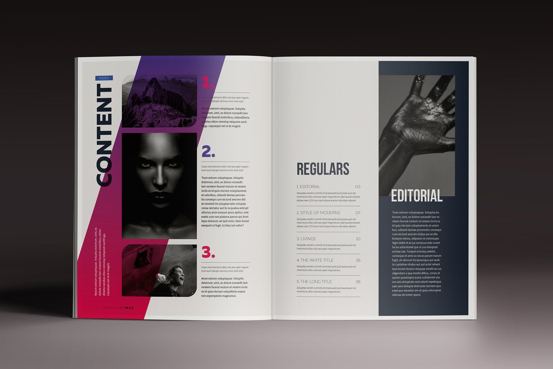 Download Gradient Magazine Indesign Template Graphic Templates by ...