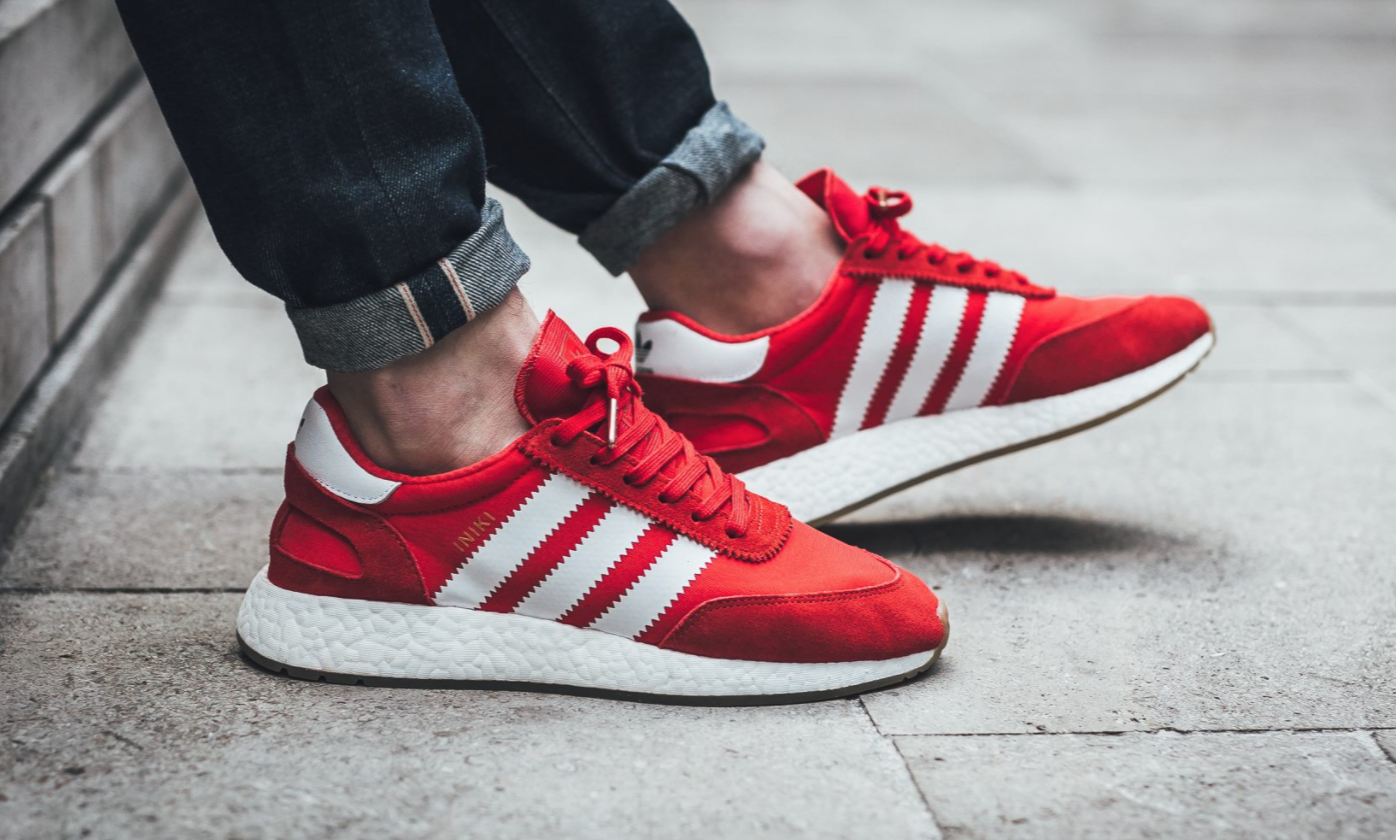 The New adidas Iniki Runner Debuts In Red • KicksOnFire.com