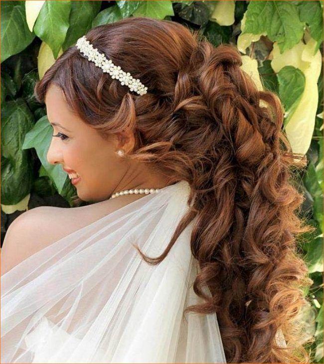 einfache brautfrisuren für lockiges haar - peinados pelo