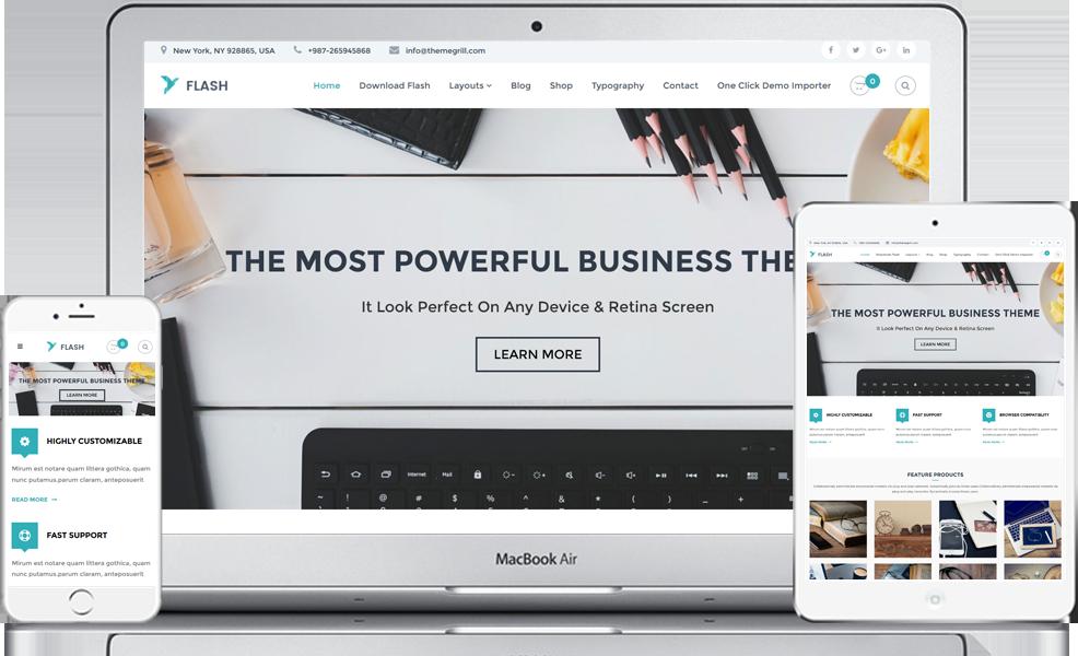 Flash – Tema Free WordPress Multiuso | WordPress Template ...