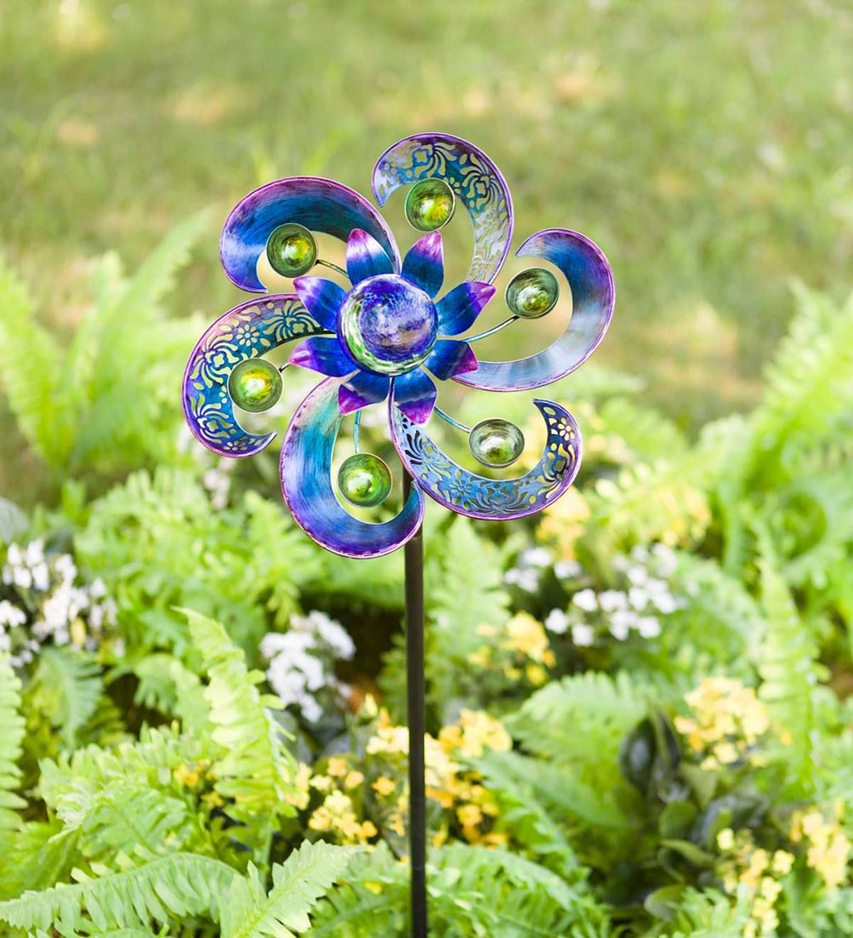 4 X Wind Spinners Pinwheels Multi-colors//birds  Garden Stakes Bird Decorations