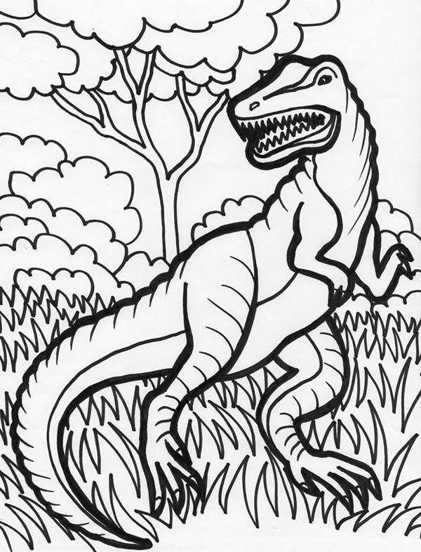 Hideous T Rex Coloring Page Color Luna Malvorlage Dinosaurier Dino Ausmalbilder Ausmalen