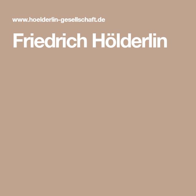 Friedrich Holderlin Gedichte Friedrich