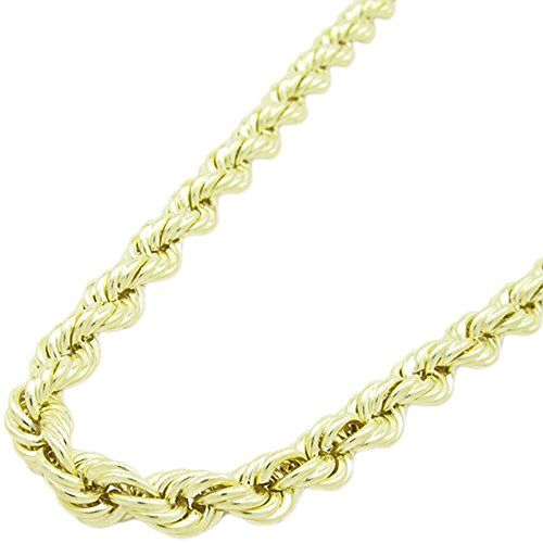 Mens 10k Yellow Gold Skinny Rope Chain Elnc18 26 Long And 5mm Wide Want To Know More Click On The Image Men Necklace Gold Rope Chain