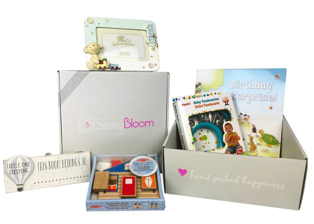 a4ec33569307 Sassy Bloom 1st Birthday Baby Boy Gift Box Present First Memories Personal  Keep #SassyBloom #