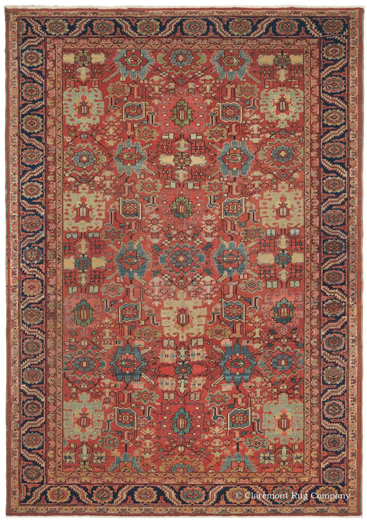 Alfombras Y Tapices Heriz Northwest Persian 9ft 0in X 12ft 7in Circa 1900