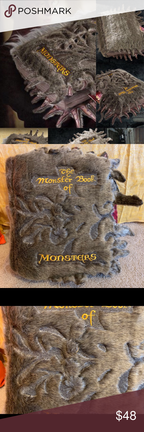 Harry Potter Book of Monsters Plush Pillow NWT NWT