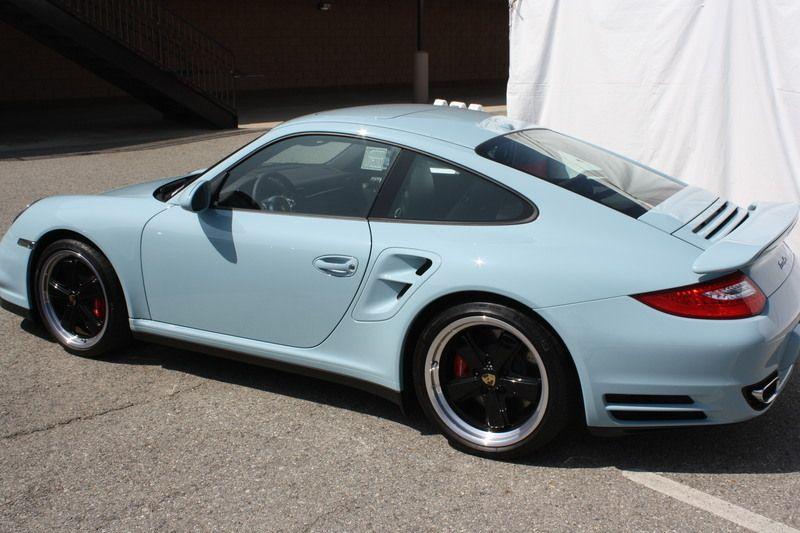 Porsche 997 Turbo Interesting Blue Color Robin S Egg Or Baby Blue Porsche 997 Turbo Porsche Porsche 911 997