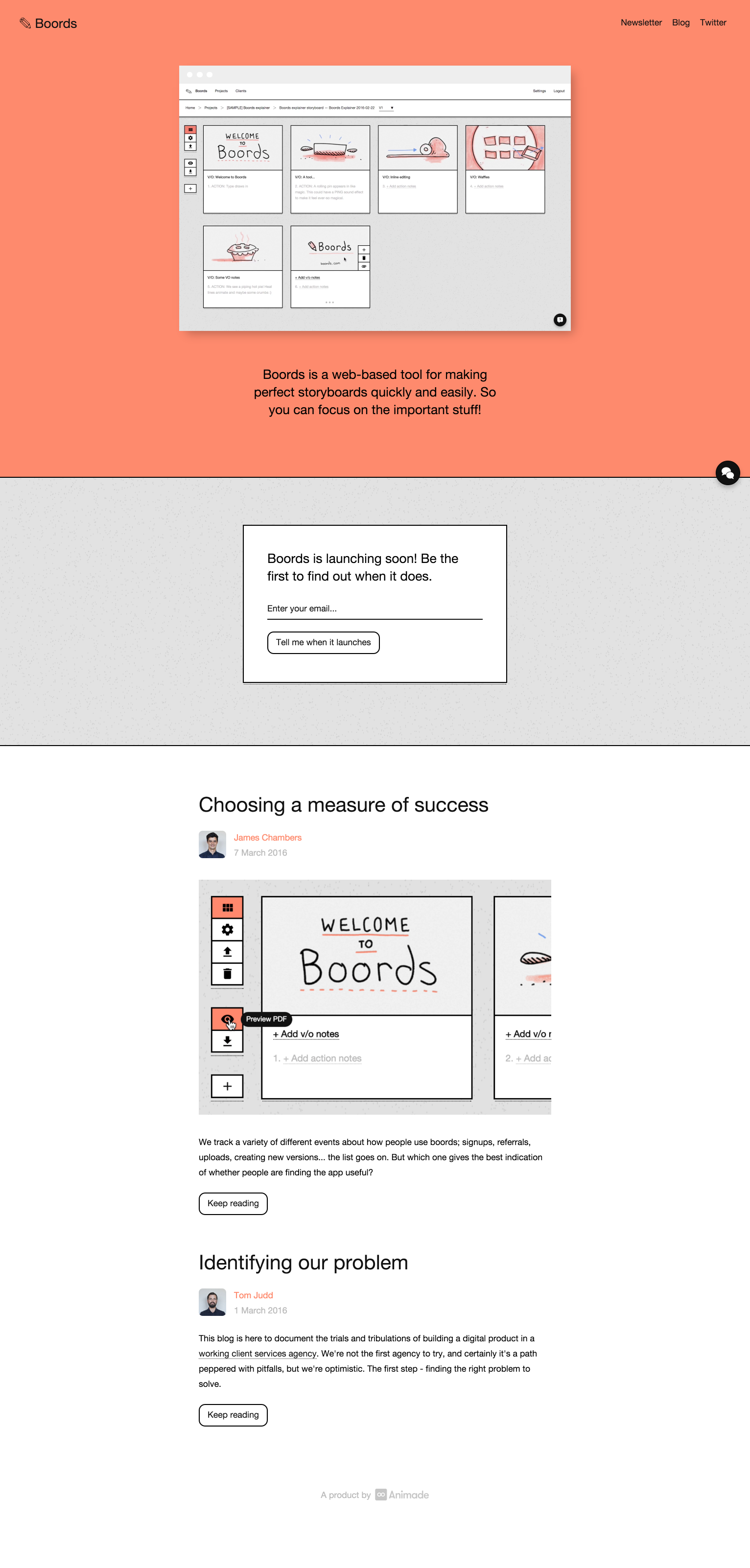 Boords Online Storyboards By Animade  Design    Storyboard