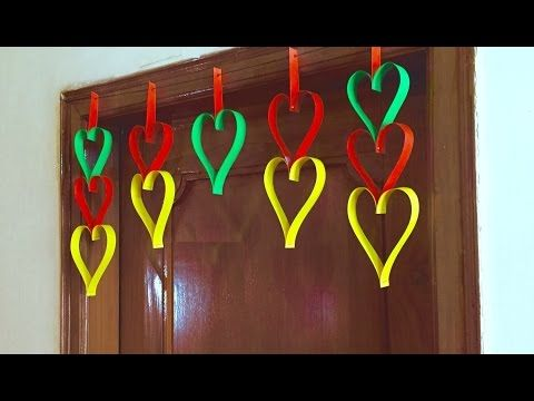 Paper Heart Door Decor Diy Hanging Decoration For Valentine Day Gift And Ideas Toran You
