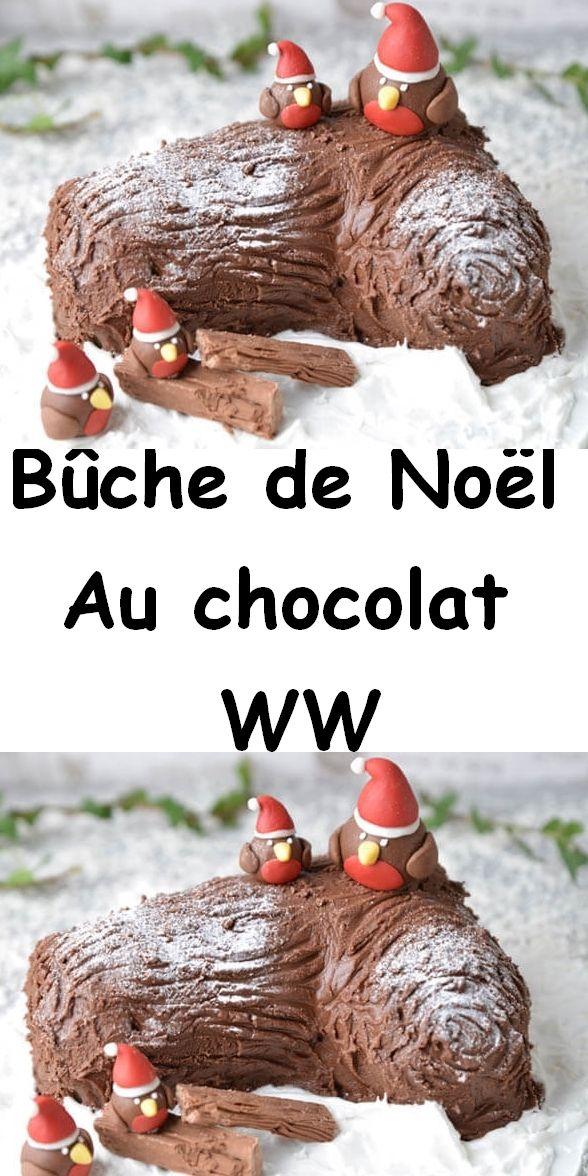 Bûche de Noël au chocolat WW