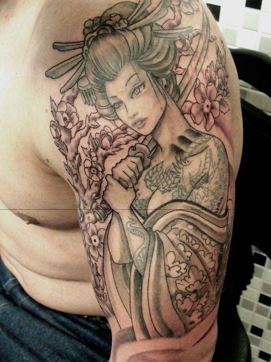 aa1df3f22b5c7 58 tatuagens de gueixas - Semana Oriental   geisha tattoos   Geisha ...