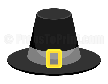 image about Printable Pilgrim Hats titled Pin by means of Muse Printables upon Photograph Booth Props at PropsToPrint