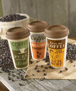 Look what I found on #zulily! Retro Coffee Travel Mug Set by Grasslands Road #zulilyfinds