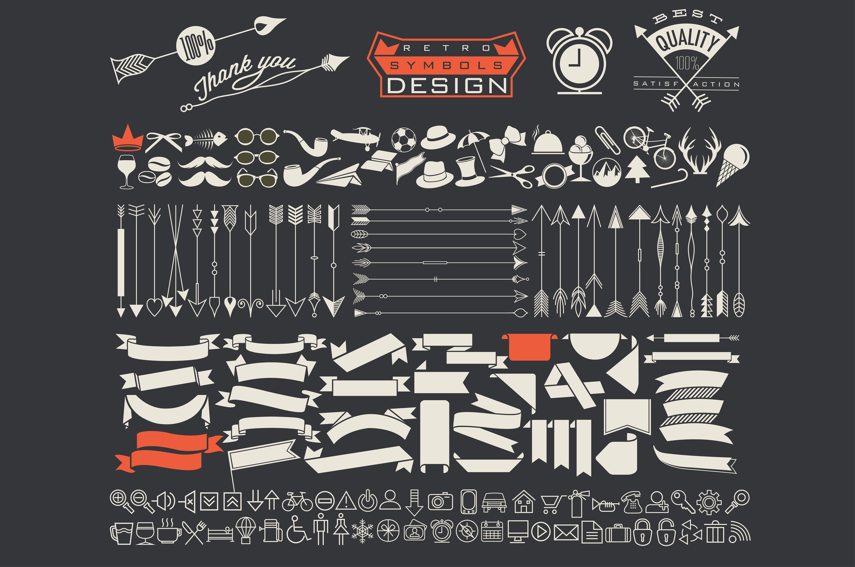 Hipster symbols by Vector Maker on creativemarket Logo