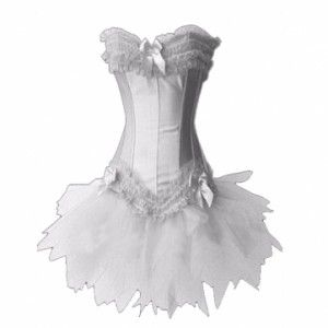 white corset bustier skirt set perfect for your wedding