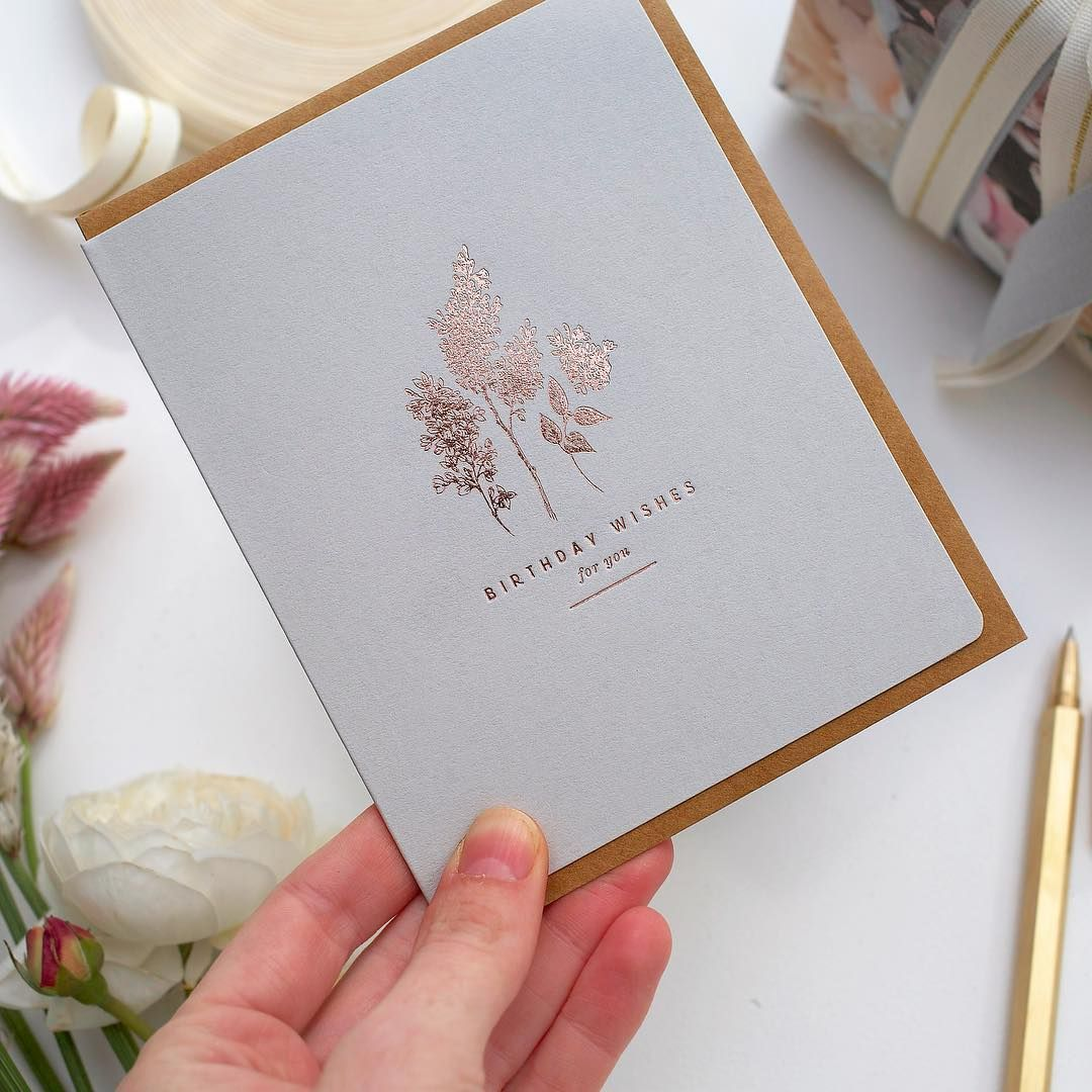 Glorious Rose Gold Foil Greeting