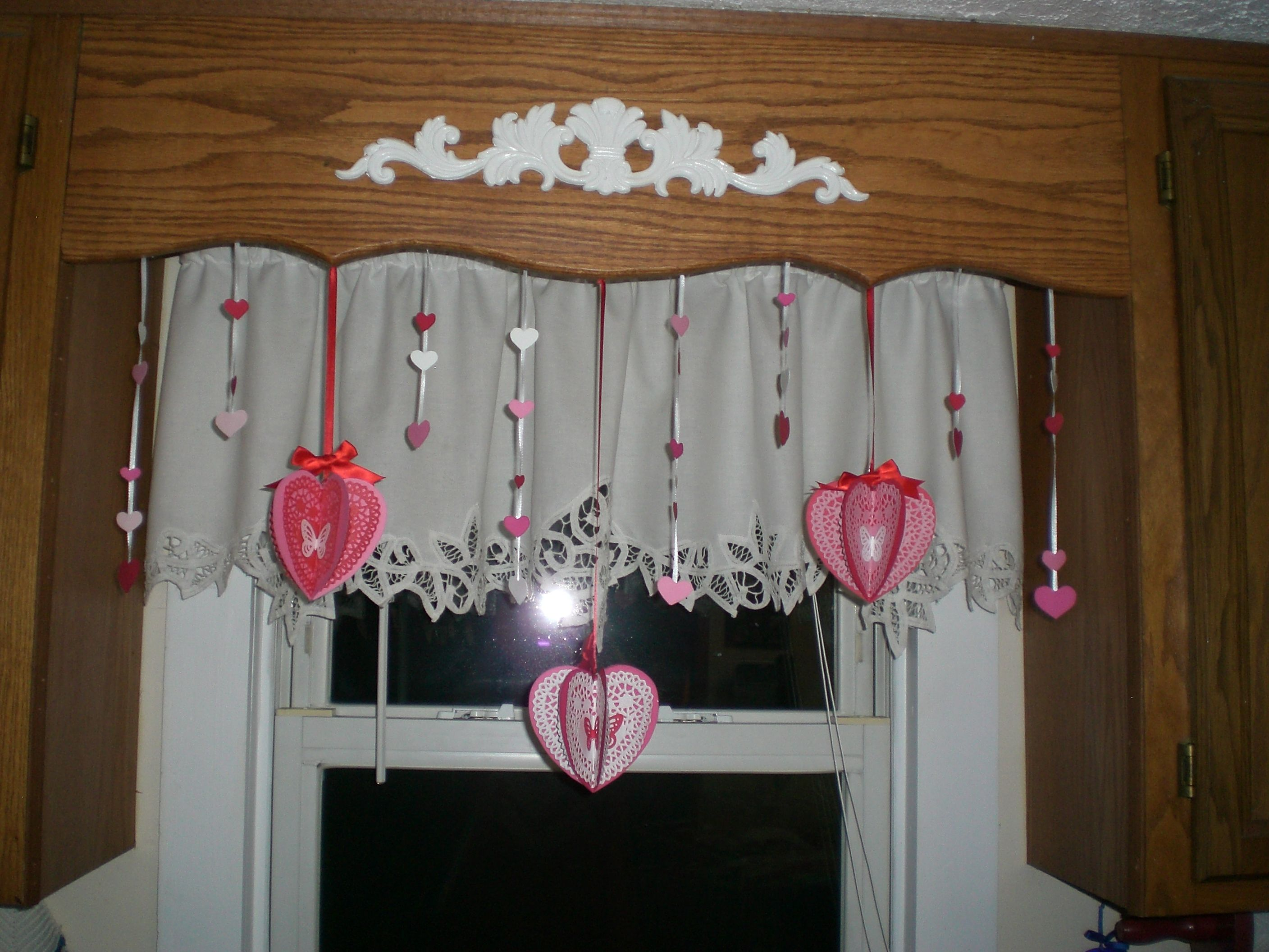 Window treatment ideas for above kitchen sink  decorations i made for above my kitchen sink  valentine favors