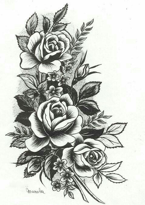 Maybe Not So Big But This Would Be Pretty Rose Tattoo Sleeve Tattoos Rose Tattoos