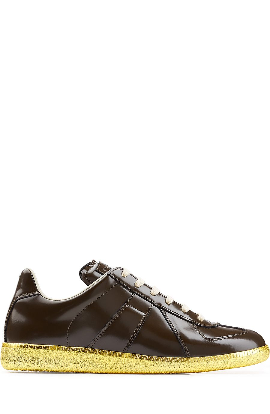 MAISON MARGIELA Replica Leather Sneakers. #maisonmargiela #shoes #sneakers