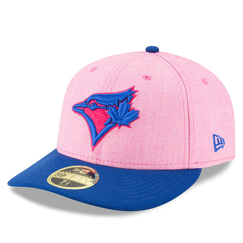 sale retailer 5d1b4 1a118 Toronto Blue Jays New Era 2018 Mother s Day On-Field Low Profile 59FIFTY  Fitted Hat – Pink Royal